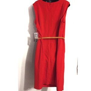 Sharagano Dresses - Sharagano Plus Red Zip Front Dress Size 22W